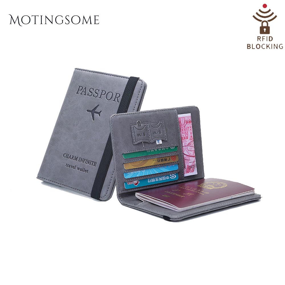 Passport Holder Cover Wallet Case for Women Men RFID Blocking Leather Travel Accessories