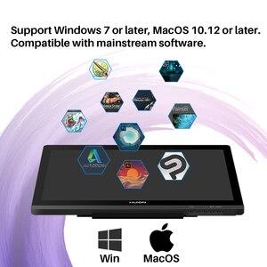 Image 3 - HUION Kamvas 20 19.5 אינץ סוללה משלוח לוח גרפי צג IPS עם AG זכוכית 120% sRGB עט Tablet צג