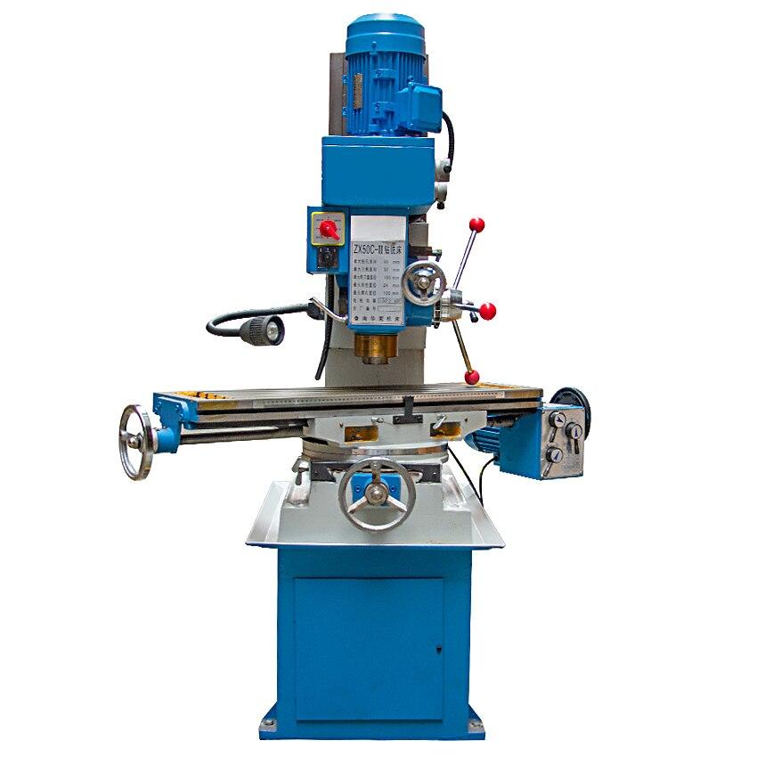 Máquina de trituração vertical de zx50c alta qualidade pequena movimentação da engrenagem perfuração e fresadora 220 v/380 v 40 141400r. p. m (900x240mm)