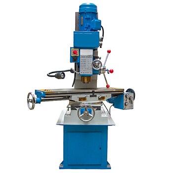 Máquina de trituração vertical do metal zx50c pequena movimentação da engrenagem perfuração e fresadora 220 v/380 v 40 40 1400 rpm (900x240mm) bancada
