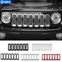 Mopai Racing Grills Voor Jeep Patriot 2011 + Abs Auto Front Grille Decoratie Cover Stickers Voor Jeep Patriot Auto accessoires(China)