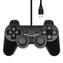 Wired USB PC Spiel Controller Gamepad Für WinXP/Win7/8/10 Joypad Für PC Windows Computer Laptop Schwarz Spiel joystick