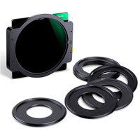 K&F Concept ND1000 Square Filter 100x100mm Lens Filter With Metal Holder + 8pcs Adapter Rings for Canon Nikon Camera Lens