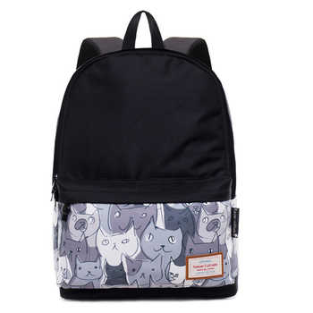 School Bag for Girl Boy Teenage Women Travel Backpack Canvas Breathable Bookbag Large Capacity Travel Laptop Daypack Cat Bagpack - DISCOUNT ITEM  49% OFF All Category
