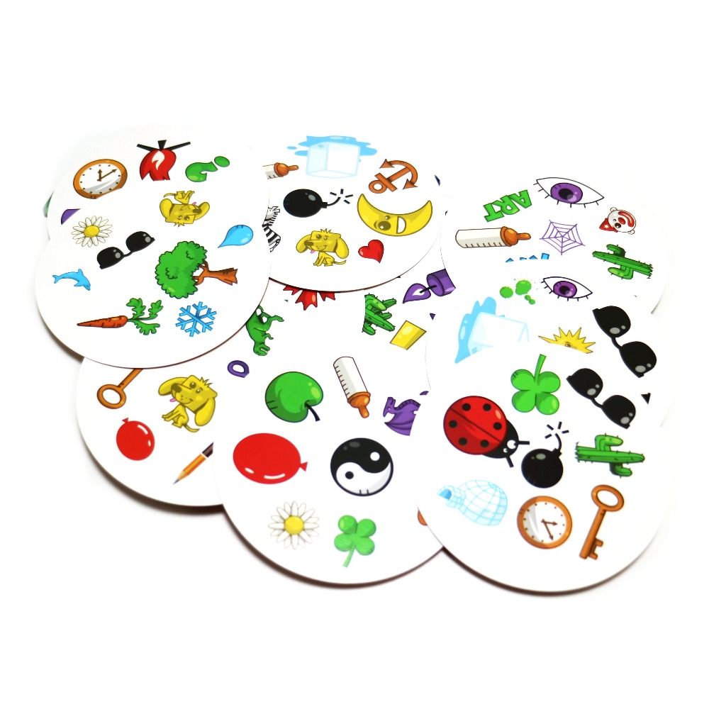 2019 Card Games Spot  For Kids Family Party Enjoy It High Quality 80mm English Version Most Classic Red Spot, Animals Board Game