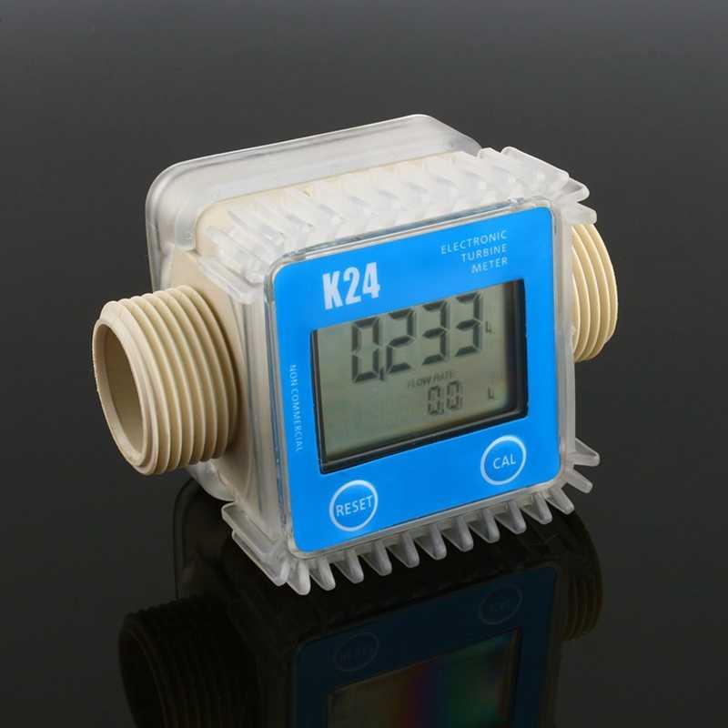 Débitmètre à Turbine numérique K24 débitmètre à eau débitmètre à eau 10-120L Min débitmètre pour produits chimiques débit d'eau débit à ultrasons