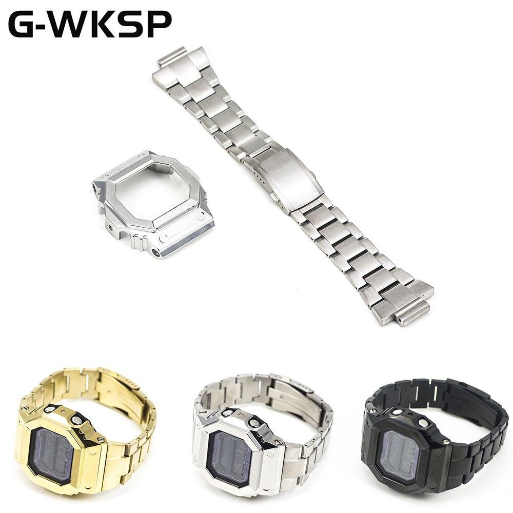 GX56 GXW-56 Watch Set Custom Watchband Bezel 100%Metal 316L Stainless Steel Material
