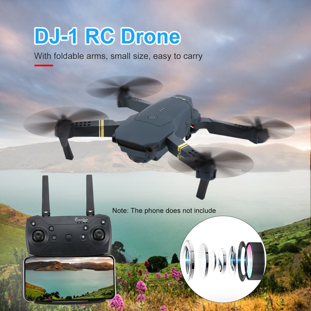 DJ-1 2.4Ghz WIFI FPV With Wide Angle HD Camera High Hold Mode Foldable Arm RC Quadcopter Drone RTF