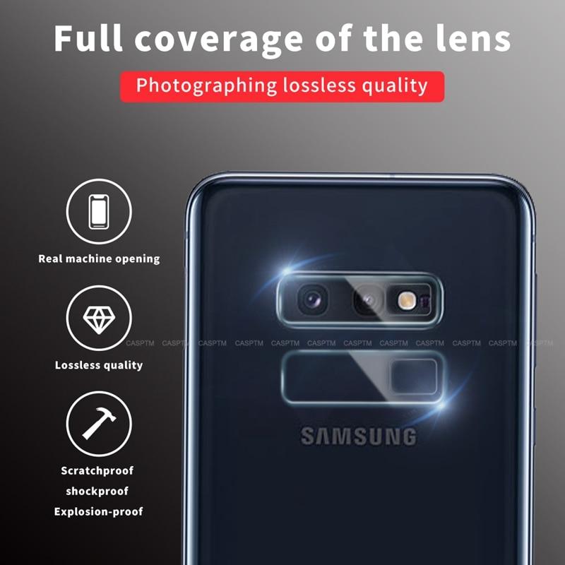 Pour Galaxy S10e protecteur d'objectif de caméra anti-déflagrant pour Samsung A50 A10 A20 A70 A80 A30 A40 A60 A90 couvercle d'objectif de haute qualité