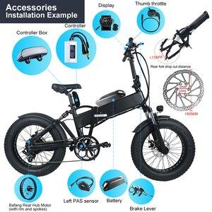 """Image 3 - Fat e bike Bafang 48V 750W tylne 20 """"26"""" silnik piasty koła elektryczne śnieg zestawy do konwersji rowerów DIY DC kaseta potężny silnik"""
