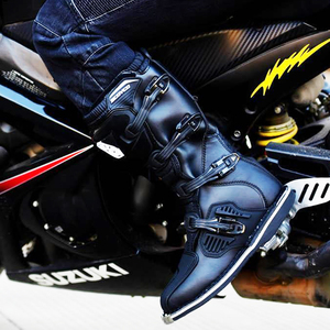 Image 5 - SCOYCO Moto rcycle 방수 부츠 모토 슈즈 bota moto cross 비 슬립 드롭 저항 레이싱 부츠 professional moto rboats