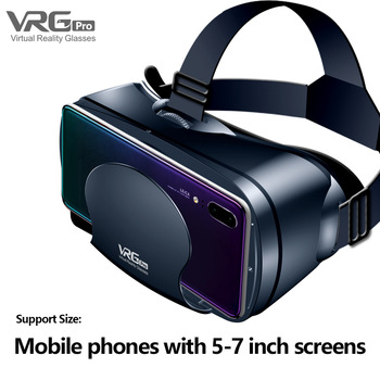 Virtual Reality 3D VR Headset Smart Glasses Helmet for Smartphones Cell Phone Mobile 7 Inches Lenses Binoculars with Controllers 6