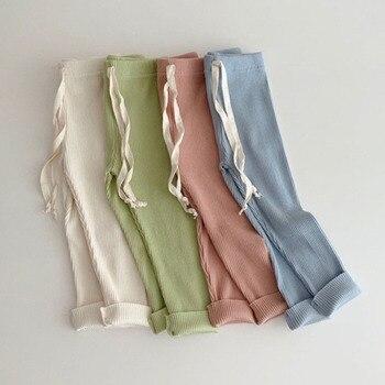 цена на 3pcs/lot Baby Boys Girls Solid Leggings Summer Autumn Toddler Pp Pants Little Boy Casual Harems Pants Kids Trousers Bottom Pant