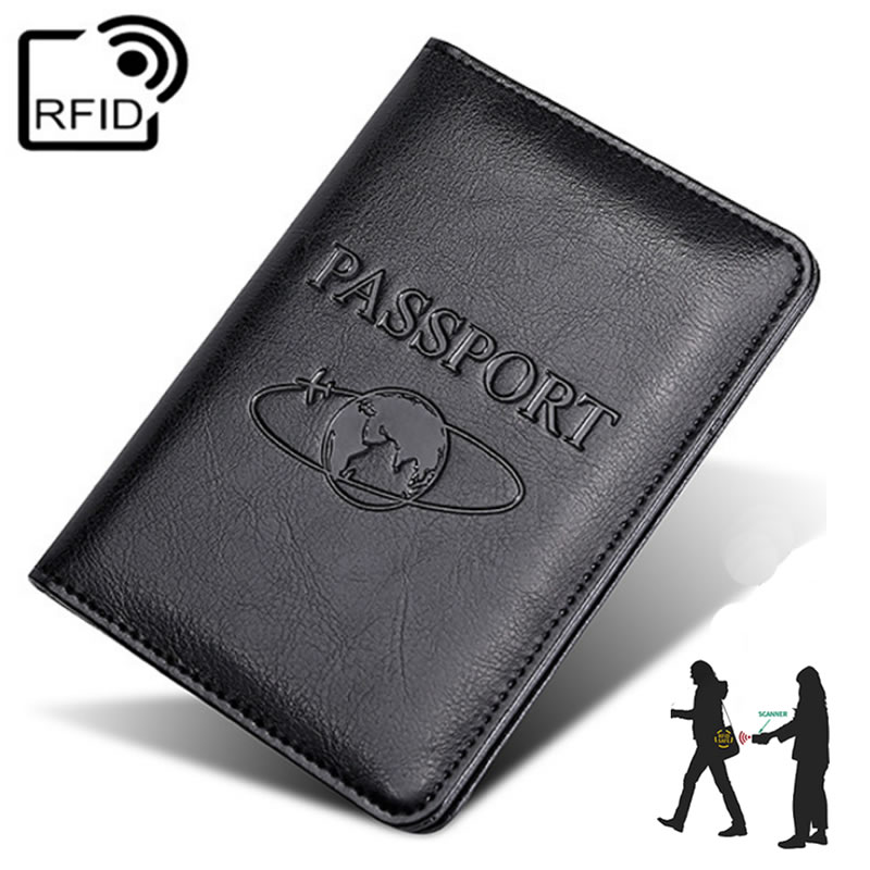 Vintage RFID Earth Business Passport Covers Holder Travel Accessories ID Bank Card PU Leather High Grade Case Women Men Wallet