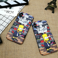 Soft Case For Iphone X 11 Pro Max Xs Xr 8 7 6 6s Plus Silicone Phone Cover Classic Cartoon Boy Bart Fundas Capa