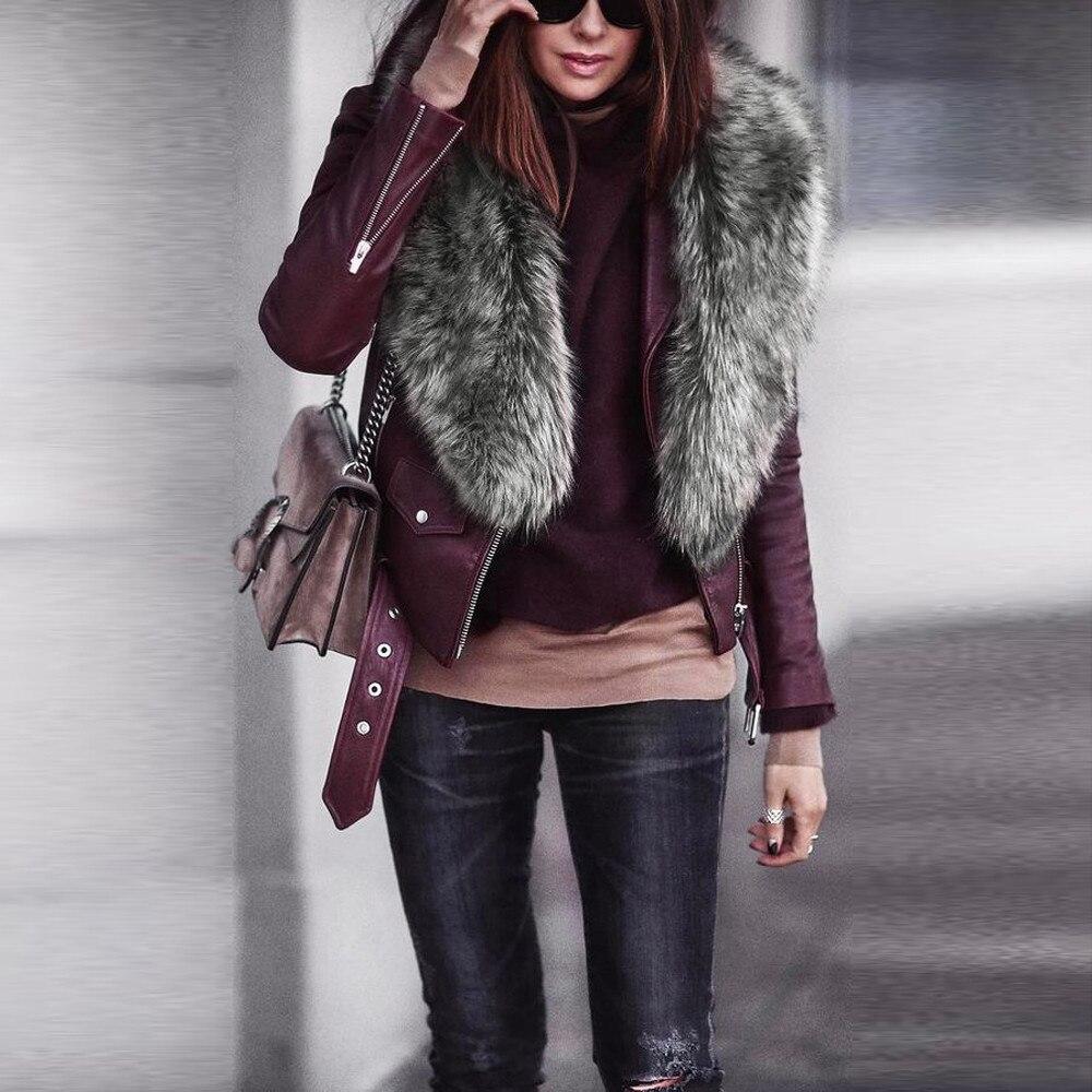 Luxury Winter Faux Fur Collar Coat Women Scarf Warm Hairy Soft Shawl Hood Fur Decor For Jackets Multi Color Female Fur Scarves