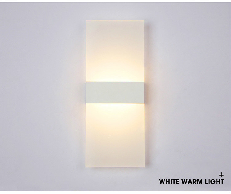 H0f8a83022c6d42b18f0767173c2105b37 - Mini 3/6/12/18W Led Acrylic Wall Lamp AC85-265V 14CM/22CM Long warm white Bedding Room Living Room Indoor wall lamp