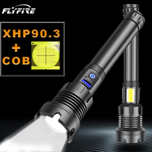 400000 LM COB XHP90.3 고강도 LED 손전등 led 토치 usb 충전식 18650 26650 플래시 라이트 XHP90 XHP70 XHP50 랜턴