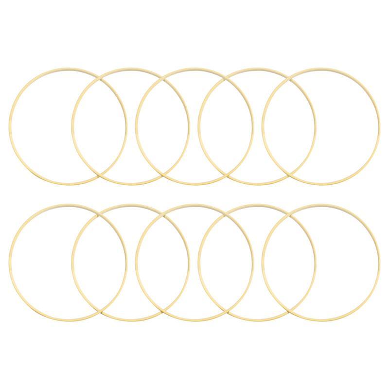Vosarea 10 pièces 20cm diamètre attrapeur de rêves anneau rond en bois bambou cerceau bricolage artisanat outils