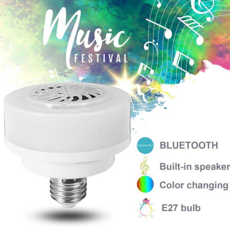 Żarówka LED muzyka sieci bezprzewodowej w domu głośnik RGB Bluetooth 4.0 E27 Bar Audio KTV inteligentna lampa światła