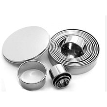 11 Piece Set Stainless Steel Mousse Ring Round Cake Mold Cake Mold Fondant Cookie Cutting Mold Baking Tool(China)