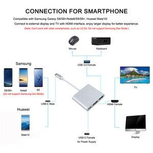 Image 2 - Thunderbolt 3 محول USB نوع C Hub إلى HDMI 4K دعم سامسونج Dex وضع USB C Doce مع PD لماك بوك برو/الهواء 2019