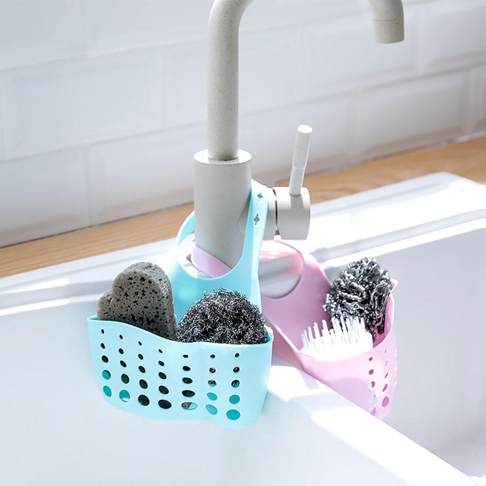 Sink Shelf Soap Sponge Drain Rack Bathroom Drying Holder Dish Cloths Holder Kitchen Storage Organizer Kitchen Wash Accessories