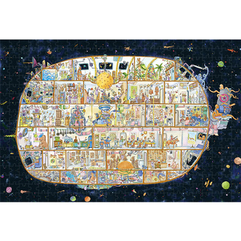 bristlegrass wooden jigsaw puzzles 500 1000 pieces ukiyoe toyohara kunichika masterpiece educational toy japanese painting decor Michelangelo Wooden Jigsaw Puzzle 500 1000 1500 2000 Pieces City Of Big Fish Cartoon Animals Educational Toy Painting Art Decor