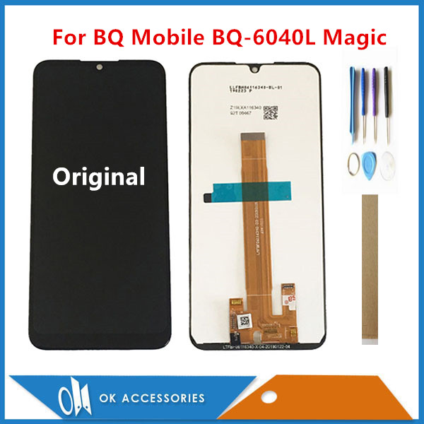 Original For BQ Mobile BQ-6040L Magic BQ6040L For Wiko View 3 Lite LCD Display With Touch Screen Assembly Sensor With Tools Tape title=