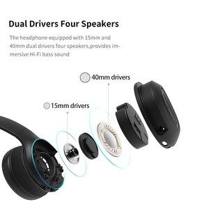 Image 5 - Dacom Dual ไดรเวอร์หูฟังตัดเสียงรบกวนโทรศัพท์มือถือหูฟัง Super Bass แบบไร้สายหูฟังบลูทูธ 5.0 หูฟังไมโครโฟน