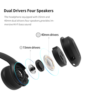 Image 5 - Dacom HF002 Dual Drivers Over Ear Noise Cancelling Mobile Headphones Super Bass Wireless Wired Headphone Bluetooth Earphone Mic