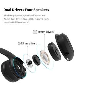 Image 5 - Dacom כפולה נהגים מעל אוזן רעש ביטול נייד אוזניות סופר בס אלחוטי Wired אוזניות 5.0 Bluetooth אוזניות מיקרופון