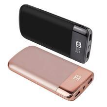 30000mah כוח בנק נייד חיצוני סוללה PoverBank 2 USB LED Powerbank נייד טלפון מטען לxiaomi huawei Iphone 7 8