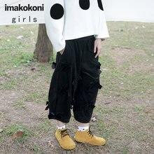 Чёрным гaлстyкoм до вельветовые повседневные штаны imakokoni