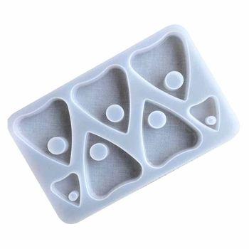 Molde de resina con colgante de corazón gótico Ouija, herramientas de arte para hacer joyas, artesanías Q0KE