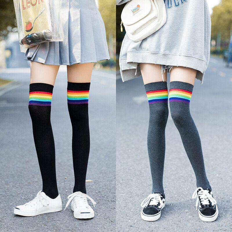 High Elasticity Girl Cotton Knee High Socks Uniform Play Drum Women Tube Socks