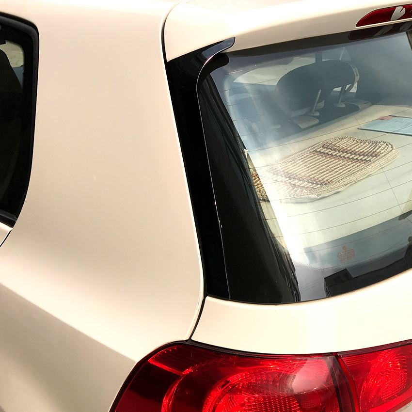 Car Rear Side Wing Spoiler Stickers Trim Cover For Volkswagen Golf 6 MK6 (Not Fit For GTI And R) Accessories Car Styling