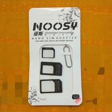10 zestawów karty SIM 4 w 1 Adapter zestaw łączników Sim telefon karty przywrócić z Pin konwertować Nano karty SIM aby micro standardowy Adapter tanie tanio CLOVEPURPLE For Smartphone Dwóch kart sim adaptery Plastic