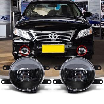 """1 Pair Black LED Projector Fog Light 4"""" LED car Fog Light for Toyota Camry Corlla RAV4 Zhixuan 14-17 2700 4000"""