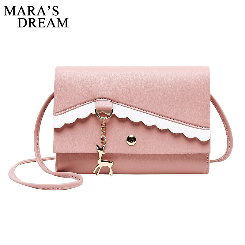 Mara's Dream 2020 New Summer Women's Bag One-shoulder Diagonal Rope Hit Color Lady Fawn Lace Change Small Square Bag