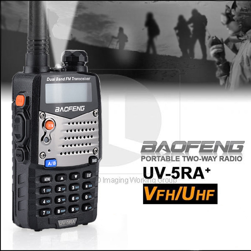 BAOFENG Long Range UV-5RA Walkie Talkie Uhf Vhf Upgraded UV5R CB Radio Police Two-Way Radio Commercial Security Use