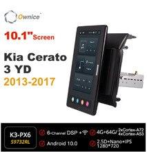 Rádio do carro de ownice 10.1 Polegada 720p android 10.0 para kia cerato 3 yd 2013 2017 jogador estereofônico da unidade principal dos multimédios de gps rotatable