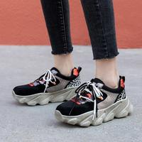 Women Vulcanize Shoes Genuine Leather Low heeled shoes Mesh spring footwear Sneakers A26360