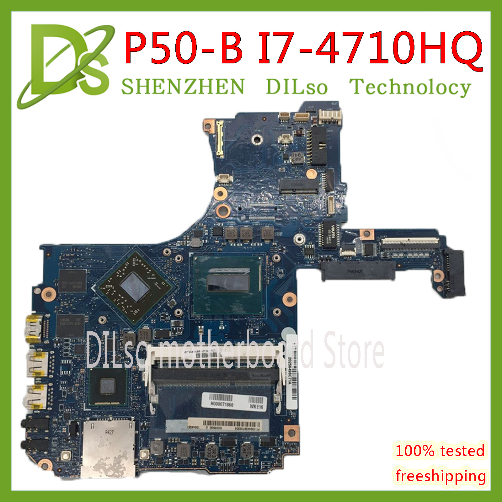 KEFU P50-B MOTHERBOARD For Toshiba P50-B P55T-B Motherboard I7-4710HQ CPU R9-M265X GPU H000075410 100% Original TEST