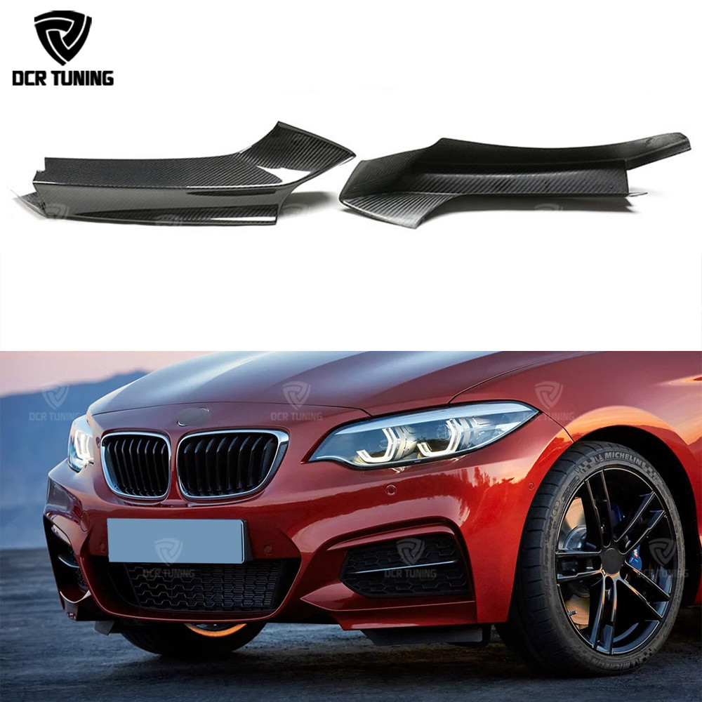 For BMW 2 Series F22 M235i M240i Carbon M-Tech Front bumper Splitter 2014 - UP Front Splitters Lips Flaps Carbon Fiber Kits image