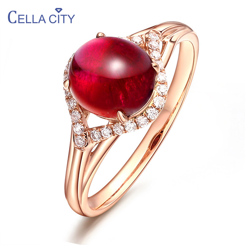 Cellacity Resizable Silver 925 Jewelry Gemstones Garnet Ring for Women Opening adjustable Couple Engagement Ring Gift Wholesale
