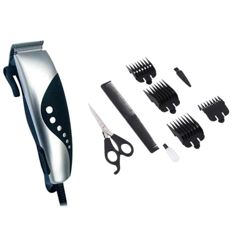 Hair Clippers Kit Machine Cutting Trimmer Professional Tools Grooming Barber Set US Plug
