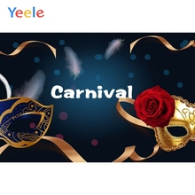 Yeele Happy Birthday Party Photography Backdrops Mask Carnival Feather Vinyl Custom Photographic Background For Photo Studio