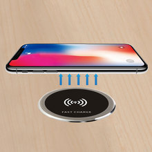 Waterproof Universal Qi Wireless Charger Furniture Office Desktop Embedded Table Quick Charging Pad For IPhone Huawei Xiaomi