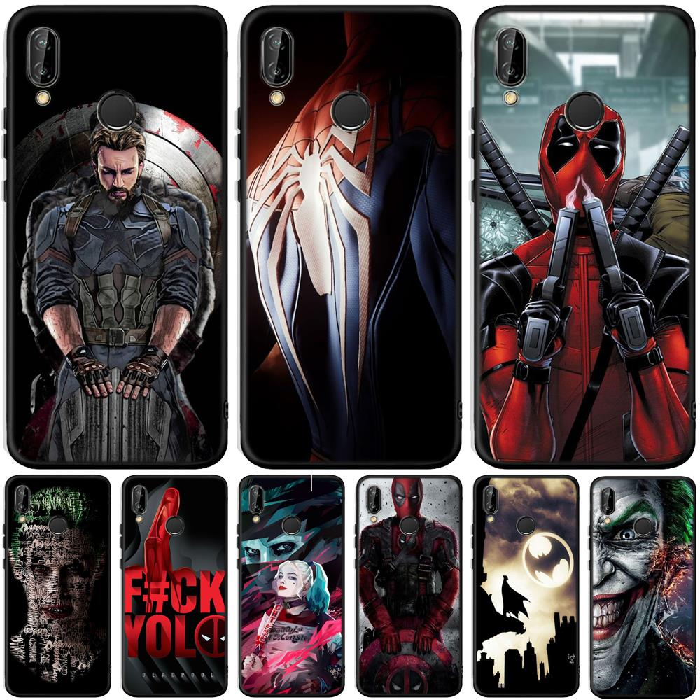 Cool Joker Dead Pool For <font><b>Huawei</b></font> P20 P30 Pro Mate 10 20 Lite Y5 Y6 <font><b>Y7</b></font> Y9 Prime P Smart Plus <font><b>2019</b></font> <font><b>Case</b></font> Silicone <font><b>Cover</b></font> <font><b>Coque</b></font> Etui image